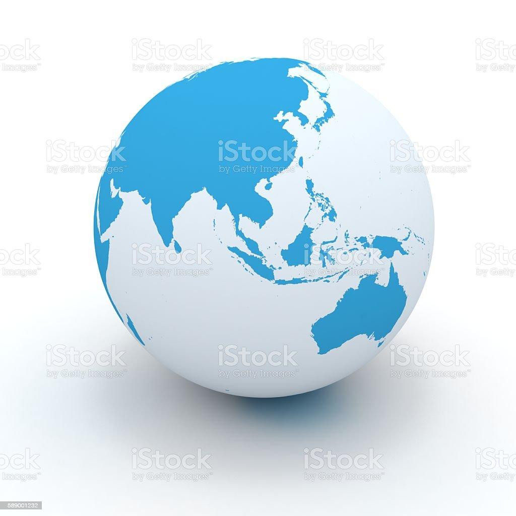 World globe east asia australia concept stock photo