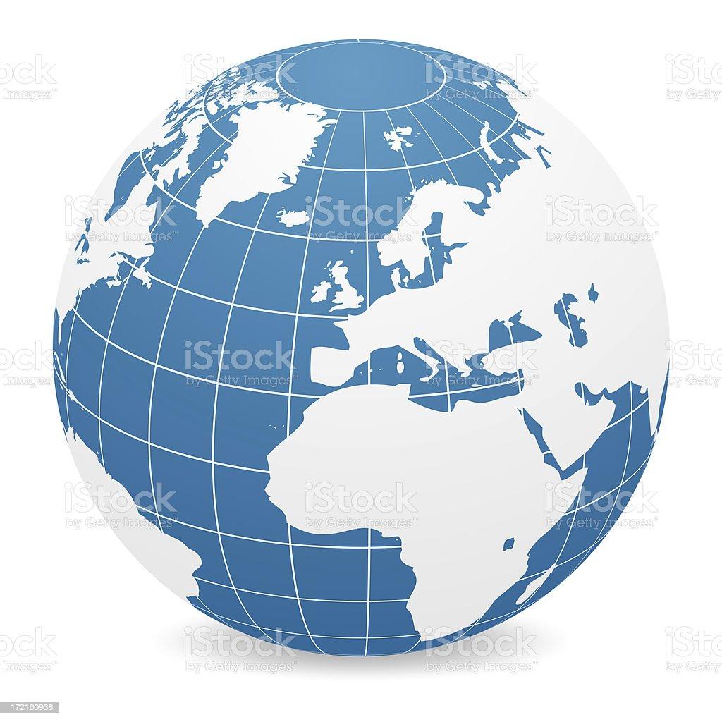 World Globe - Europe stock photo