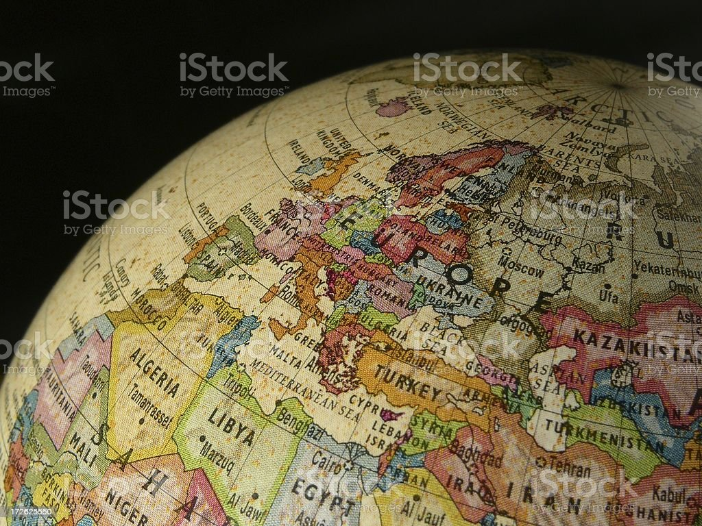 World Globe: Europe royalty-free stock photo