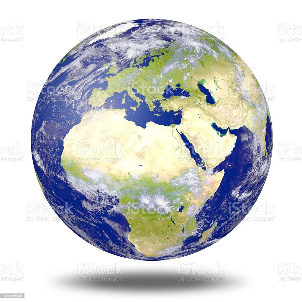 World Globe - Europe royalty-free stock photo