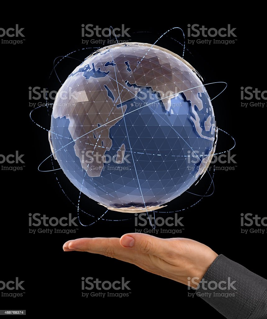 World Globe - Infographic Presentation stock photo
