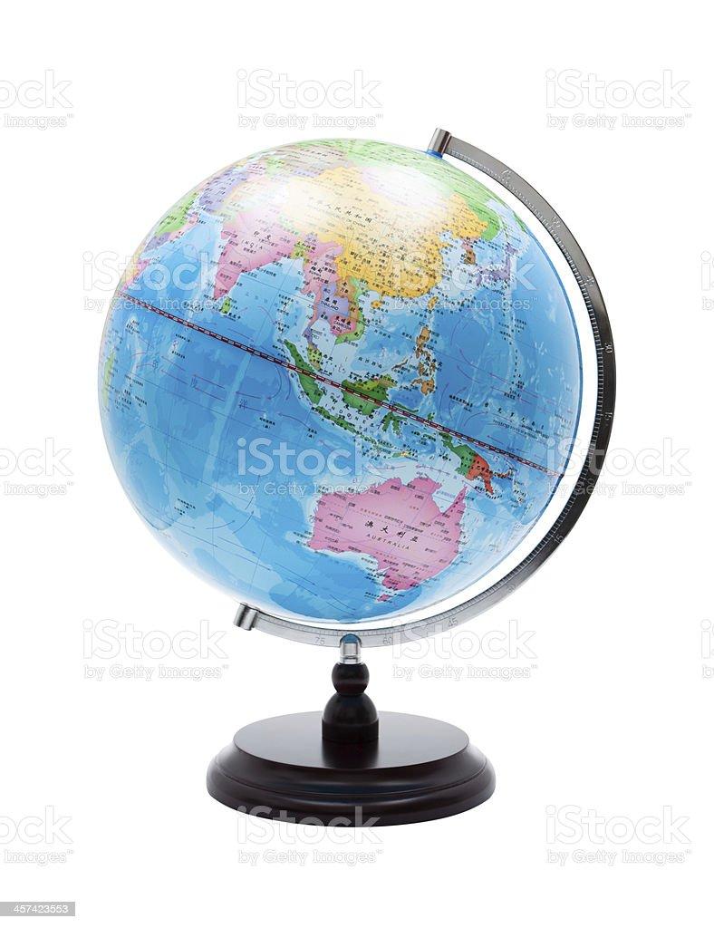 World Globe (Clipping path) isolated on white background stock photo