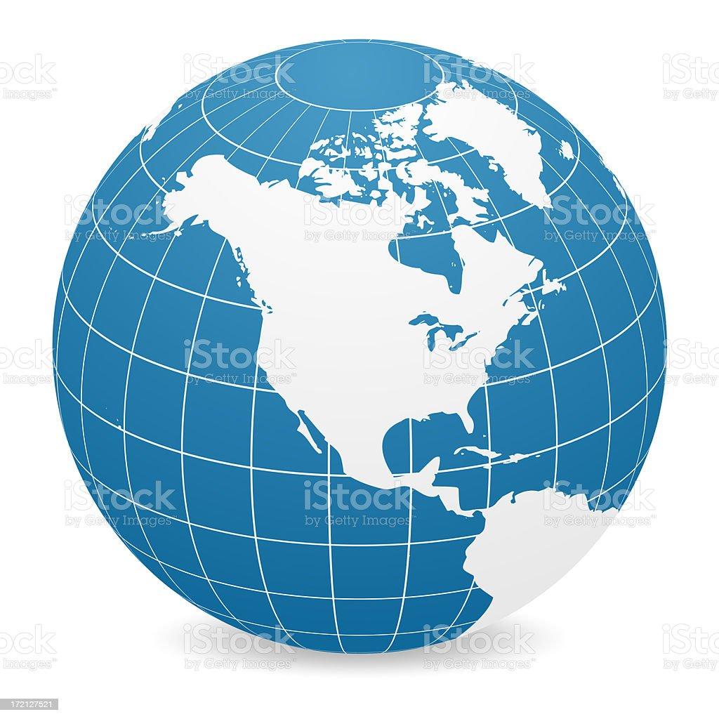 World Globe - North America stock photo