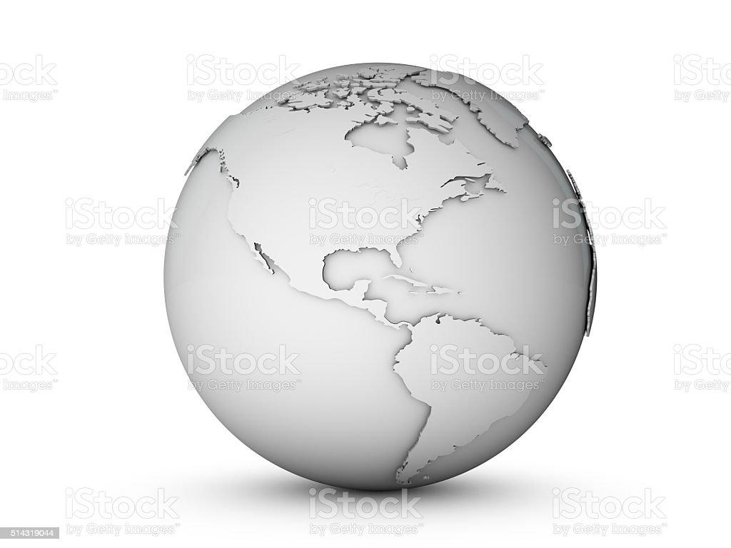 3D world globe stock photo