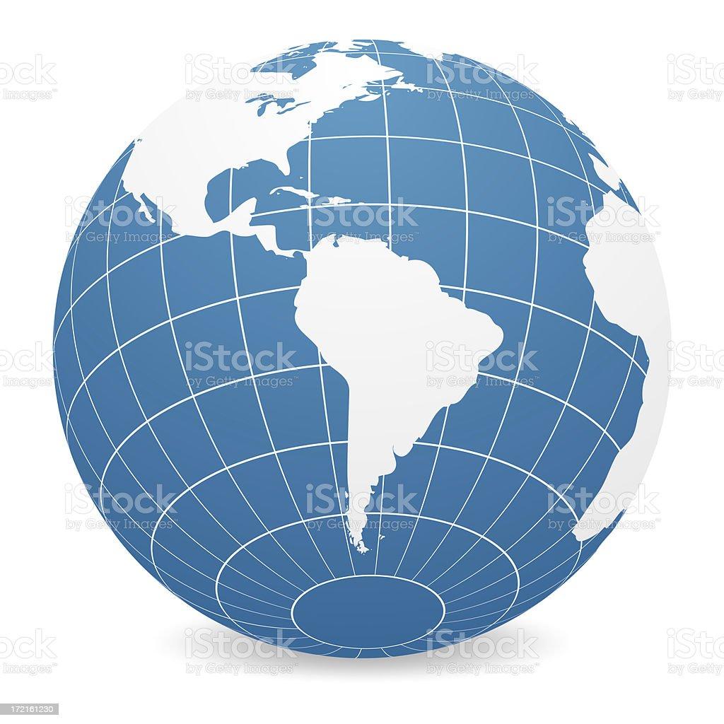 World Globe - South America royalty-free stock photo