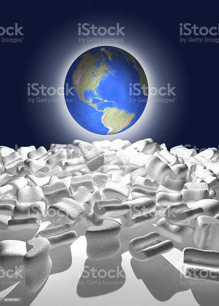 World globe unpacked royalty-free stock photo