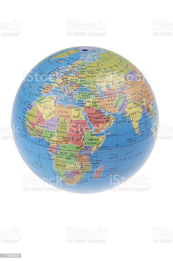 World Globe White Background stock photo