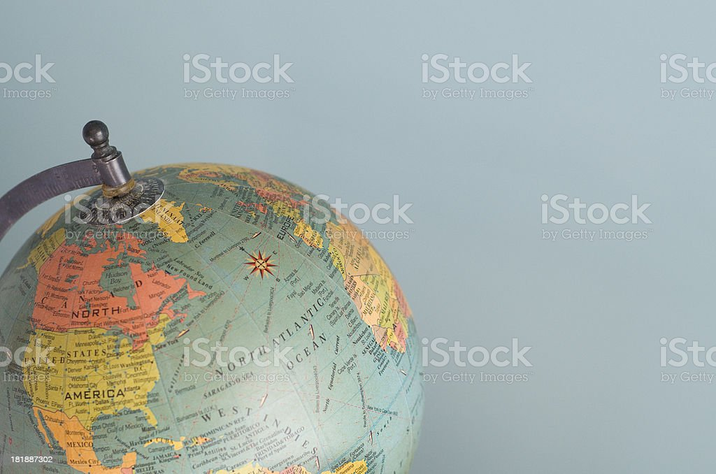 World Globe with Americas visible royalty-free stock photo