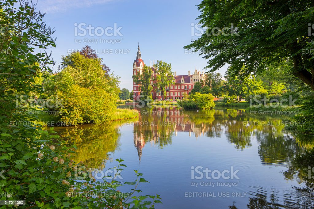 World Heritage Bad Muskau Schloss at Fürst Pückler Park stock photo