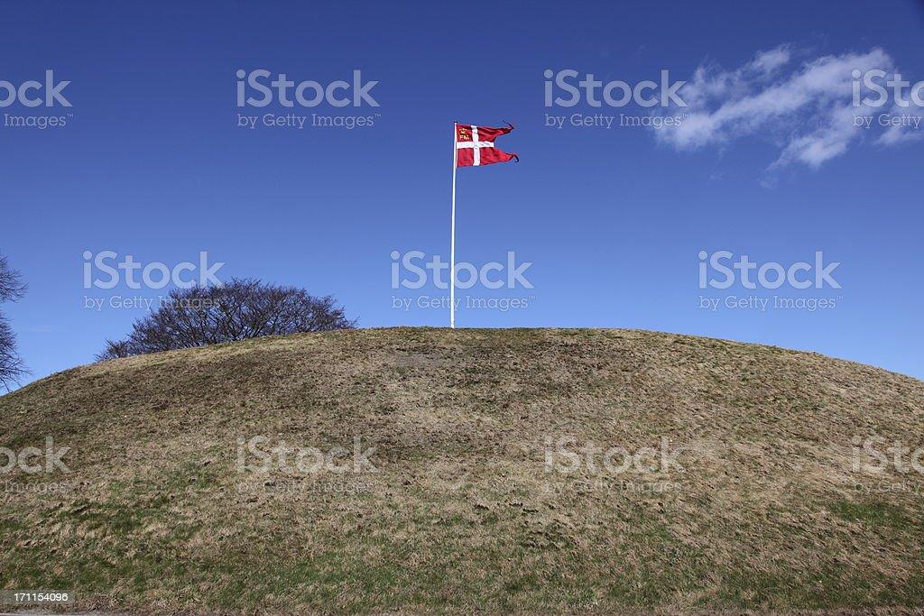 UNESCO World Heritage - Burial mound Jelling Denmark stock photo