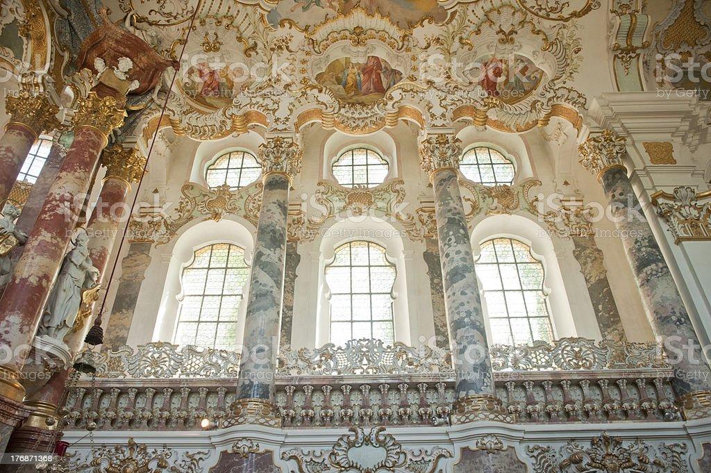World heritage of wieskirche church in Germany. stock photo