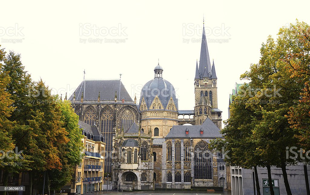 UNESCO world heritage site Aachen cathedral stock photo