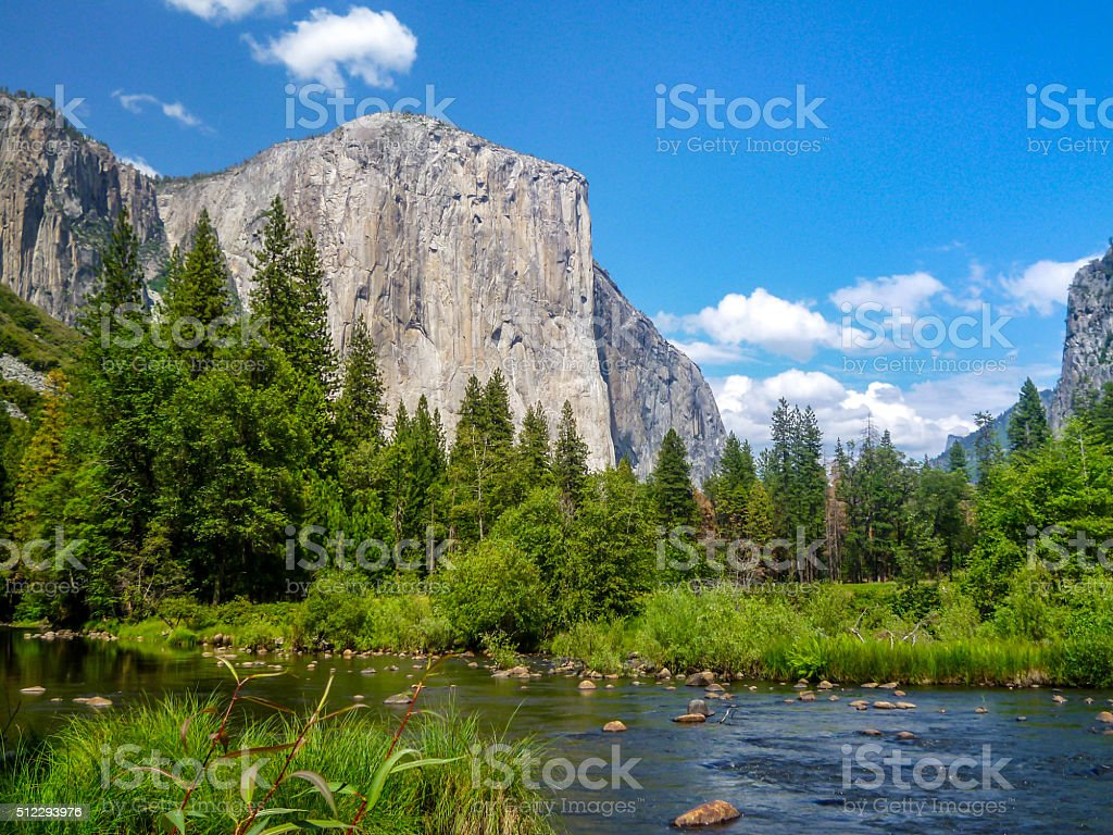 World Heritage Yosemite National Park in California . stock photo