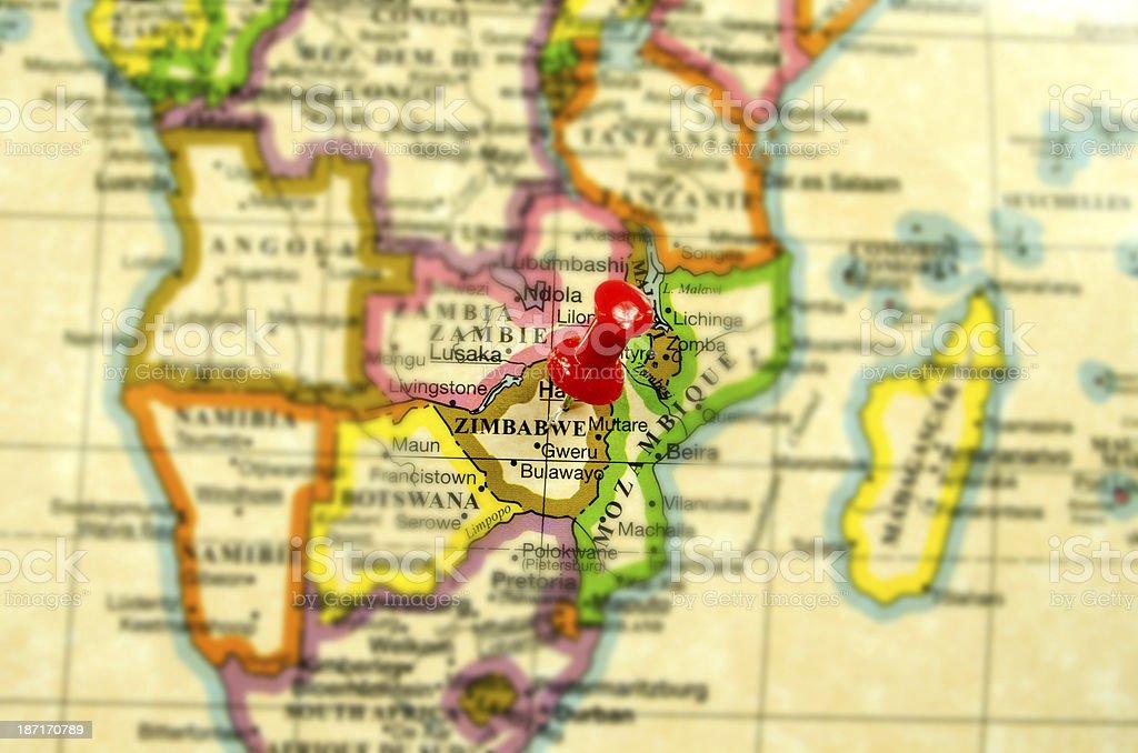 World Hot Spots ... Zimbabwe stock photo