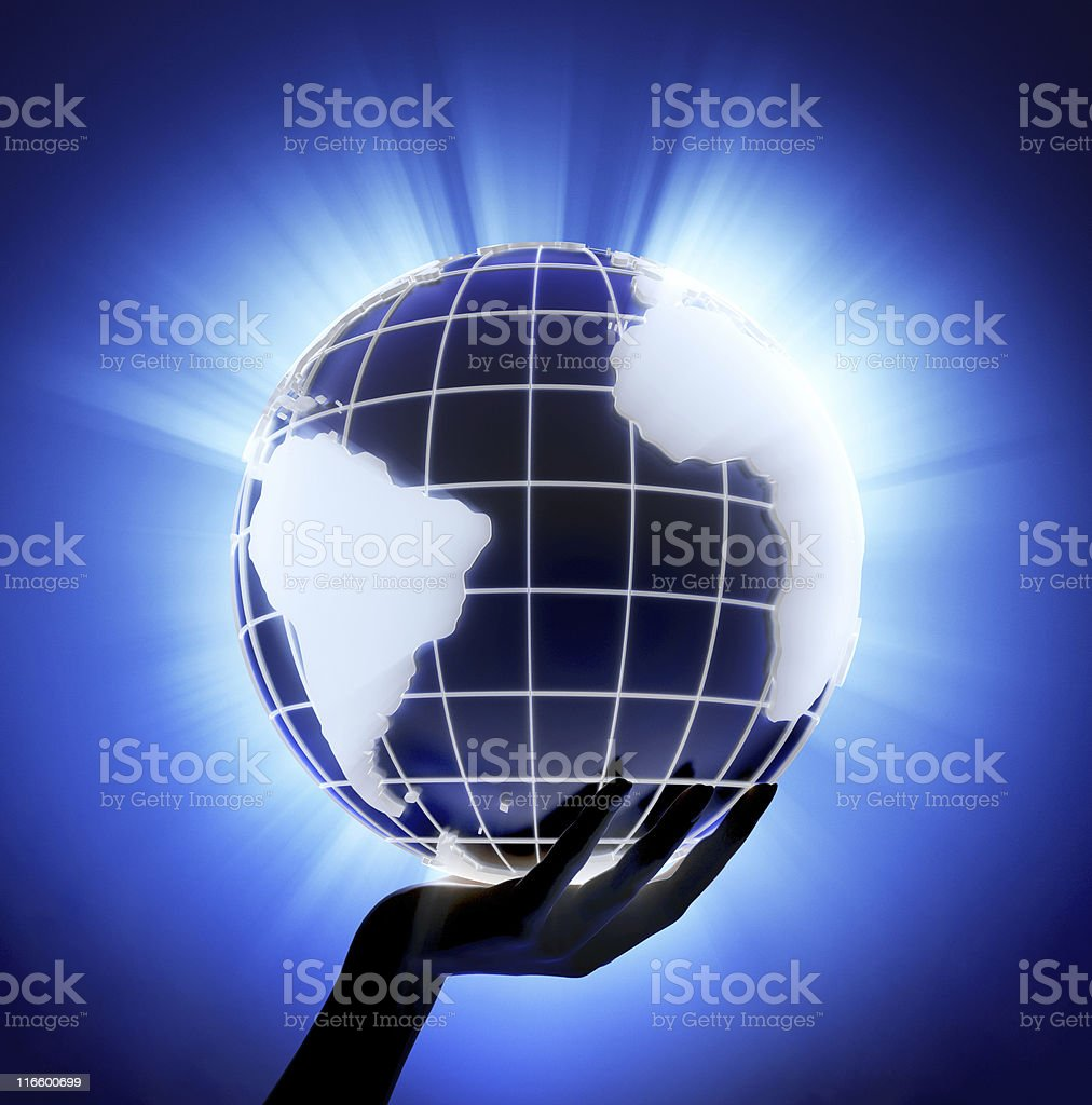 World in hand royalty-free stock photo