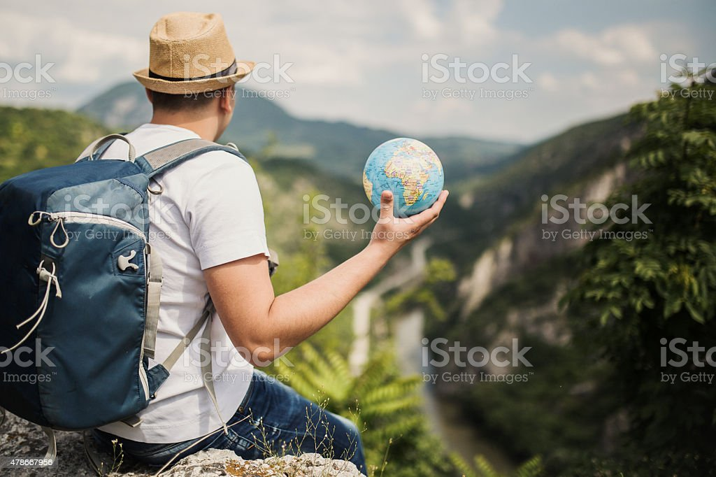 world in hands stock photo