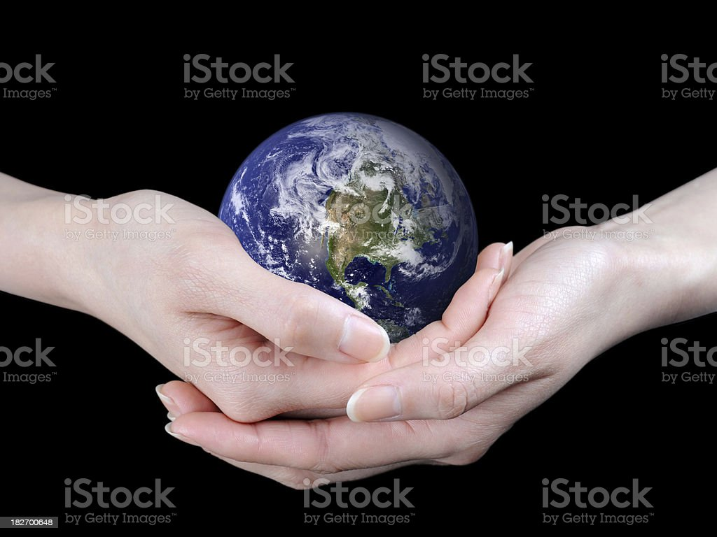 World in Hands - XLarge royalty-free stock photo