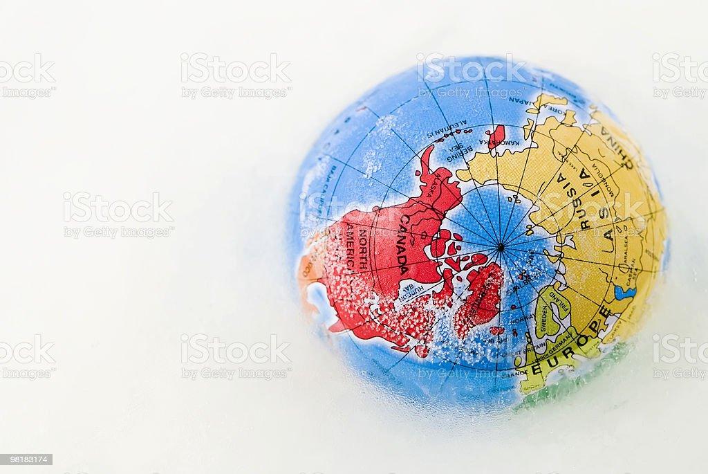 world in ice stock photo