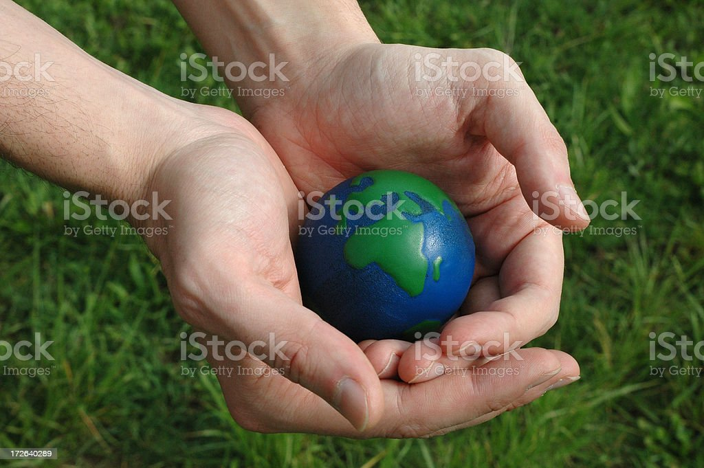 world in my hands royalty-free stock photo