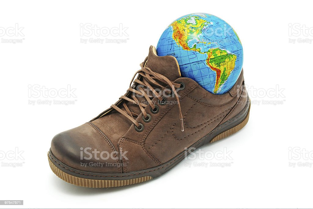 World in shoe. royalty-free stock photo