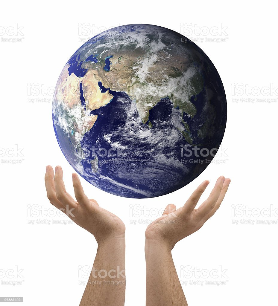 World in the hand royalty-free stock photo