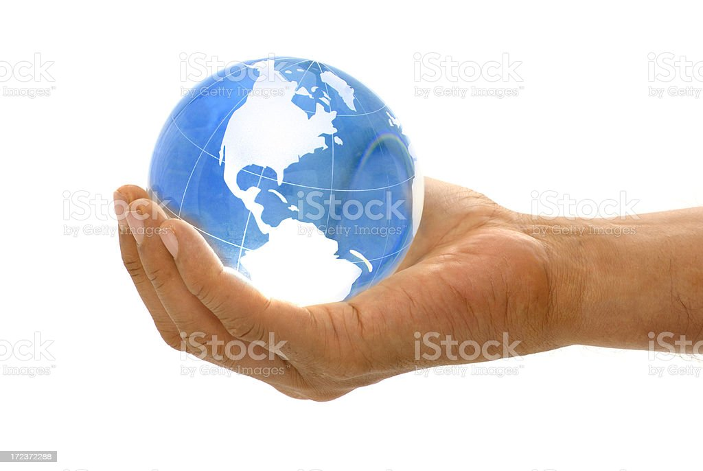 world in your hand royalty-free stock photo