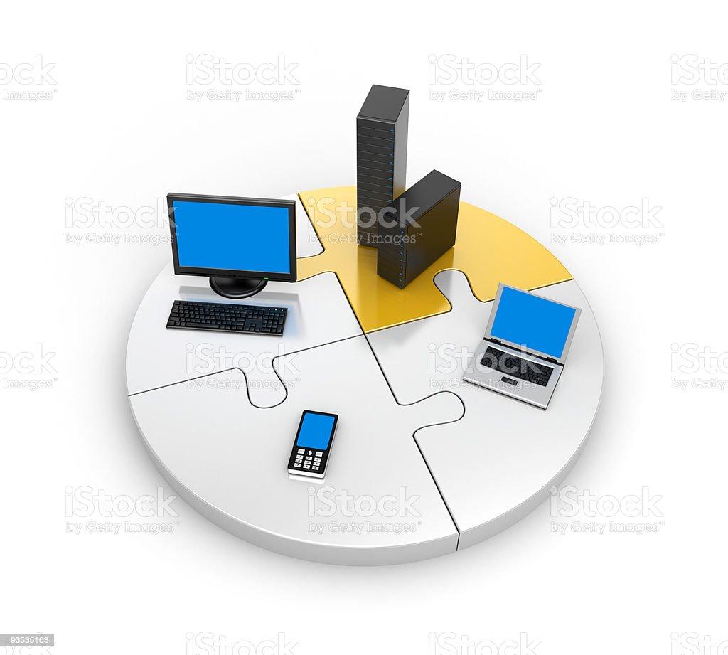 World information technology royalty-free stock photo