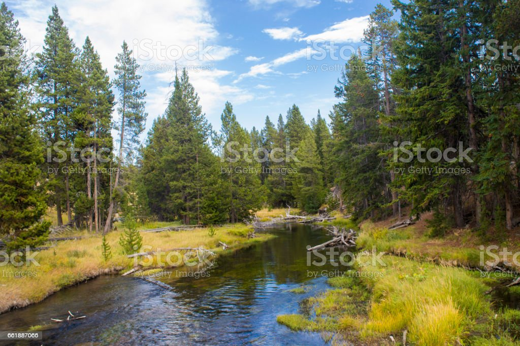 World is biggest National Park is Yellowstone National Park, in USA stock photo