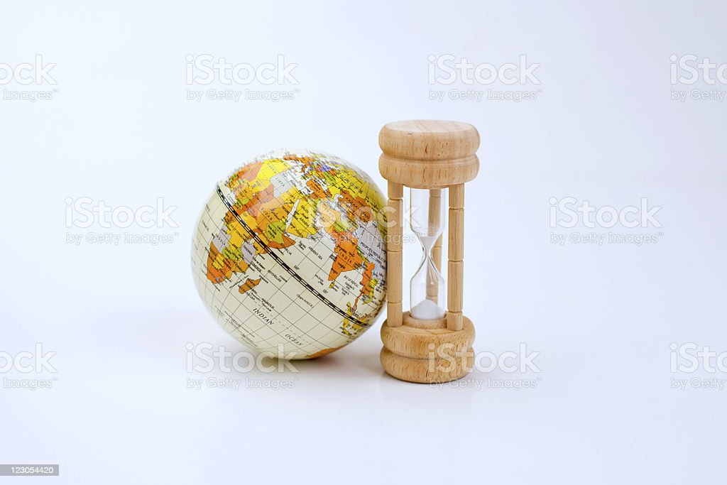 World is running out of time stock photo