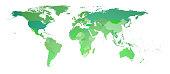 world map 3d rendering