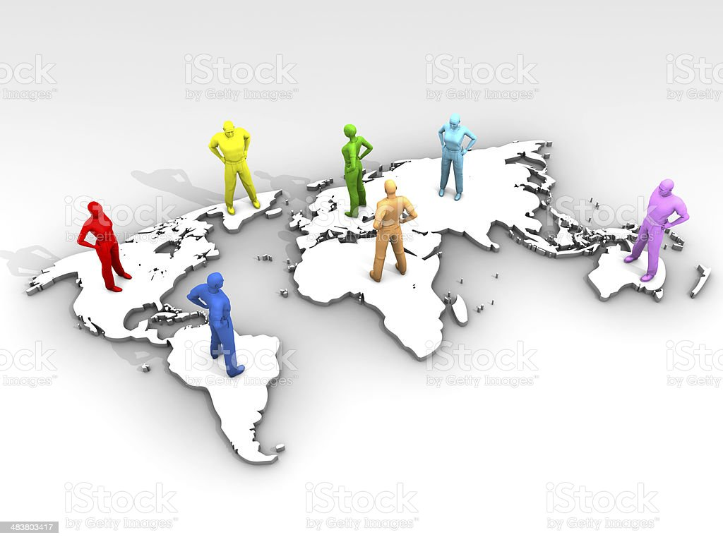 World Map and International Relations stock photo