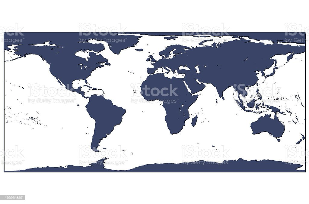 World Map Blue stock photo