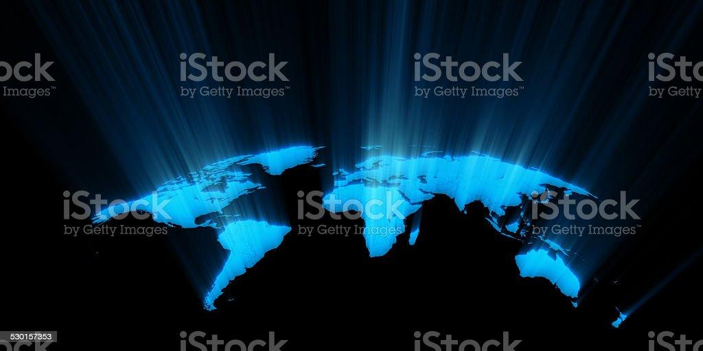 World map concept stock photo