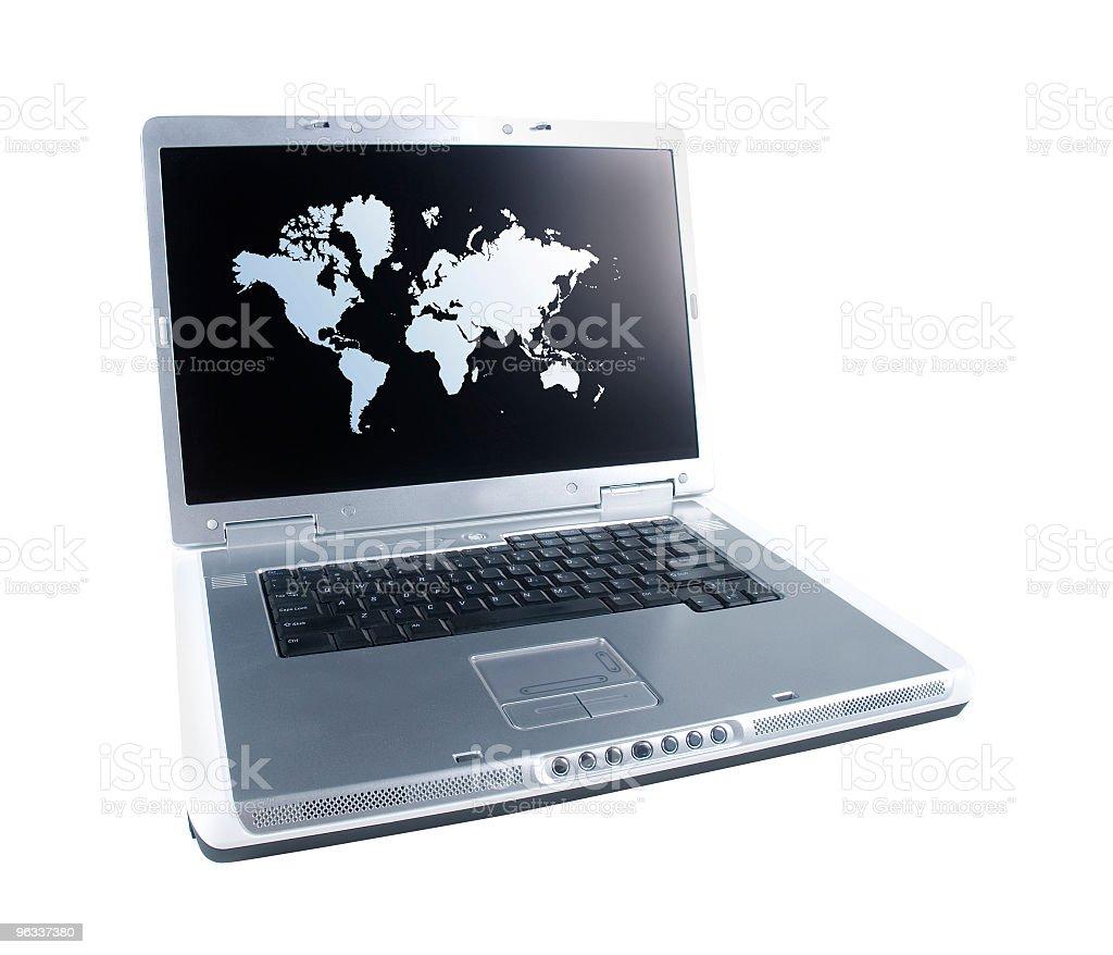World Map Laptop royalty-free stock photo