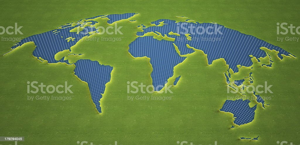 World map made of Solar panel royalty-free stock photo