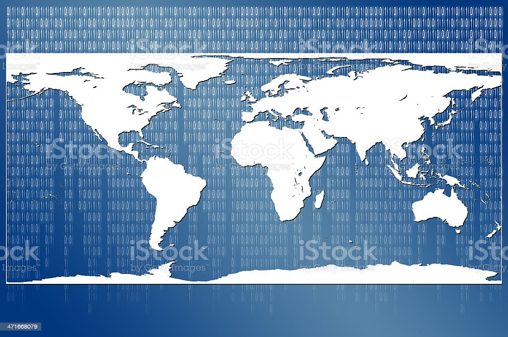 World Map Matrix royalty-free stock photo