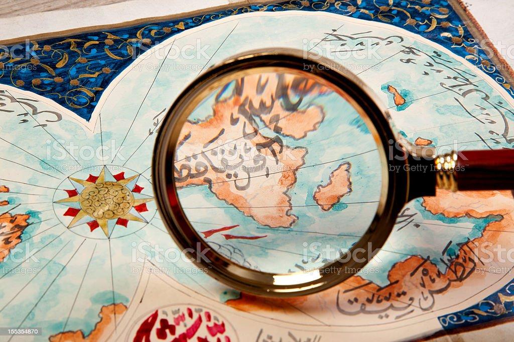 World map (AFRICA) stock photo