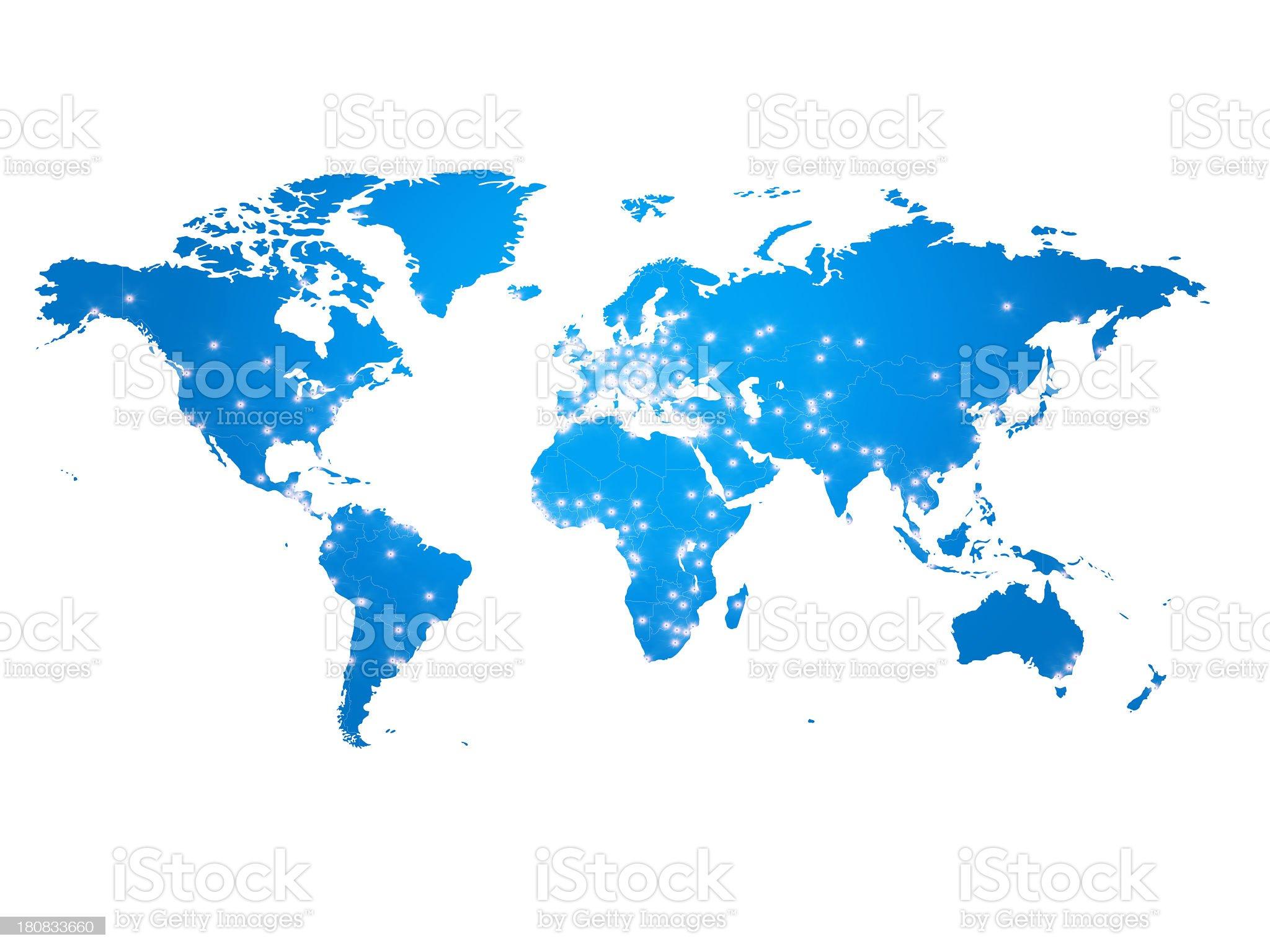 world map royalty-free stock photo