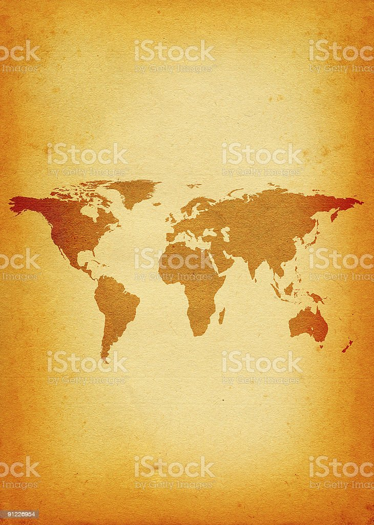 world map - vertical stock photo