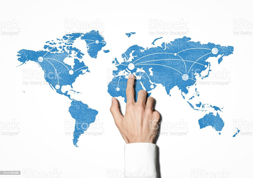 World map / Whiteboard concept (Click for more) stock photo