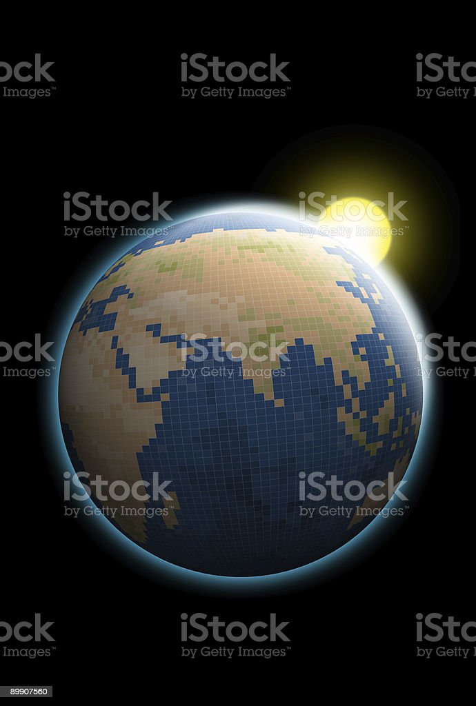 world map with asia royalty-free stock photo