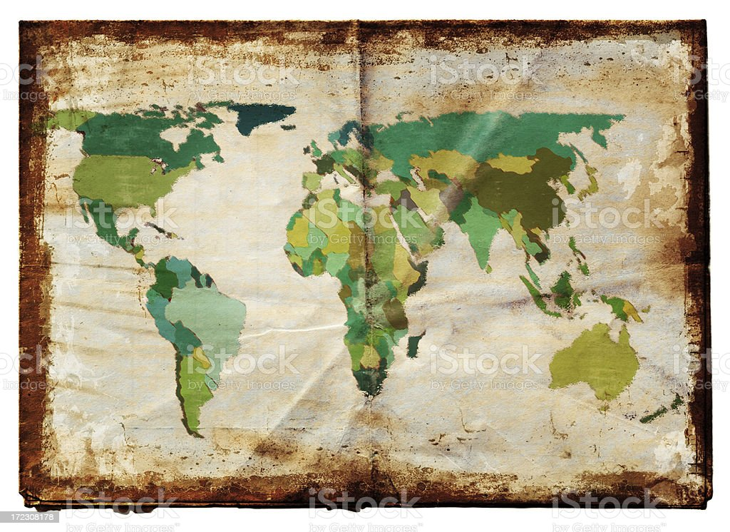 World map XXL royalty-free stock photo