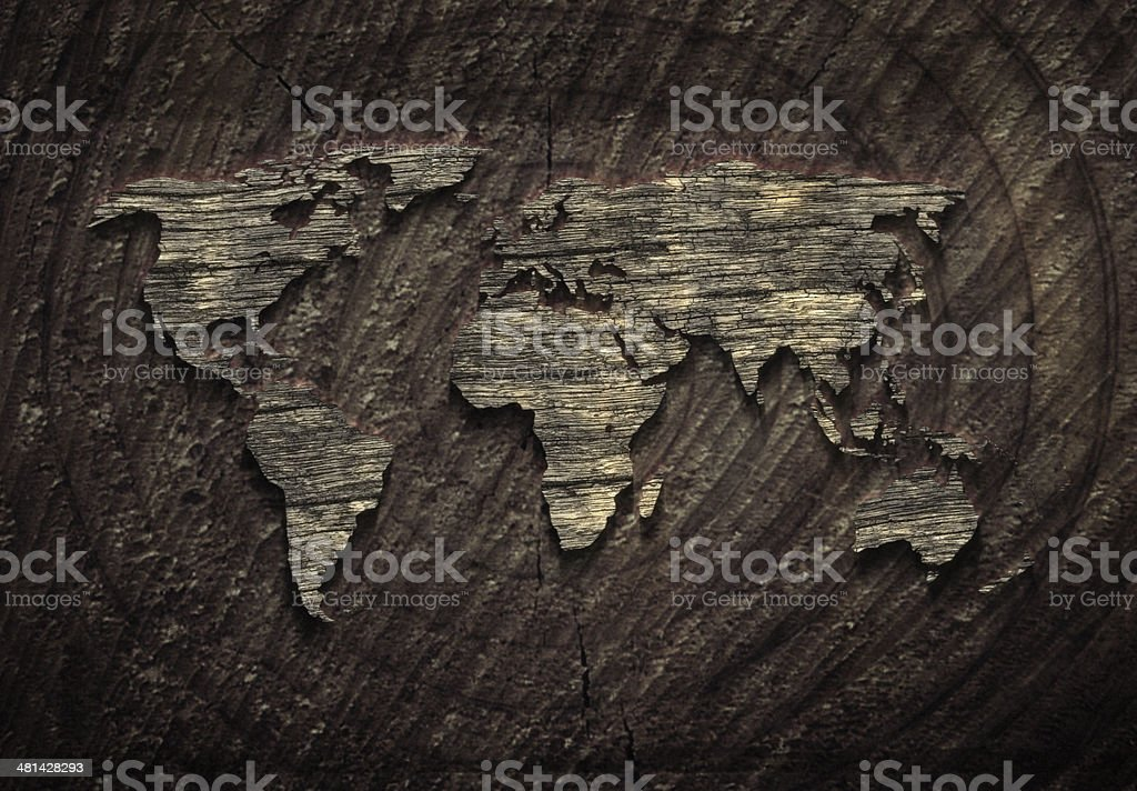 world map XXL stock photo