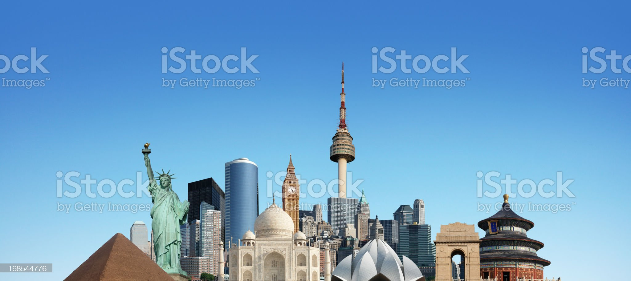 World Monuments royalty-free stock photo