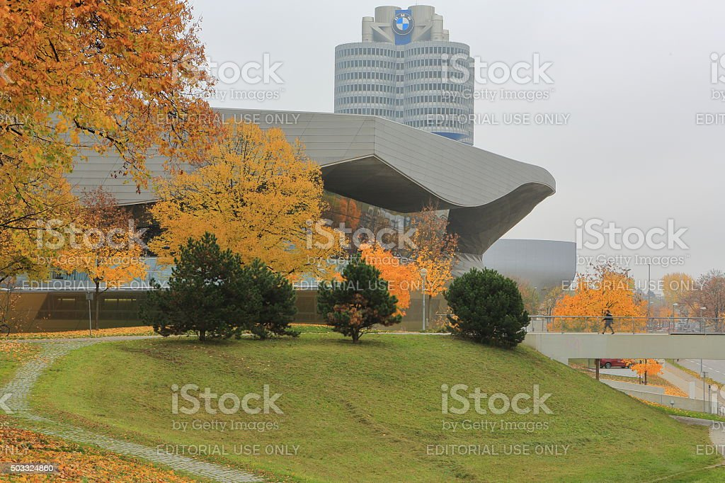 BMW World, Museum and Offices in Munich stock photo