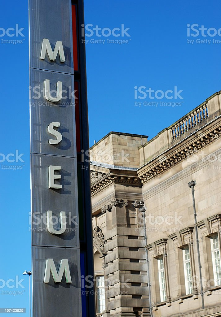 World Museum Liverpool sign stock photo