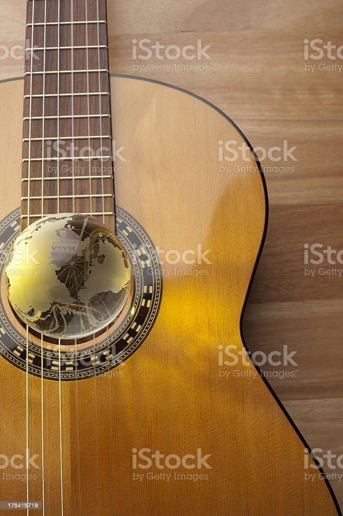 World music concept. stock photo