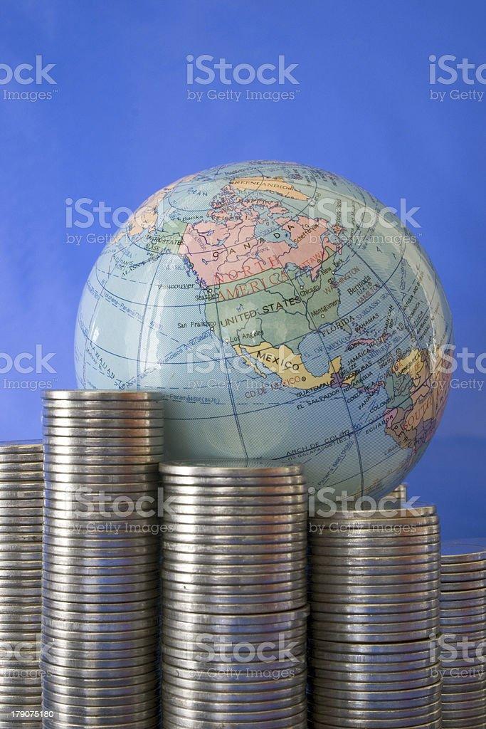 World needs money royalty-free stock photo