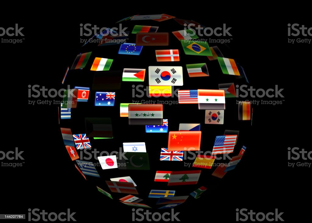 World of flags royalty-free stock photo