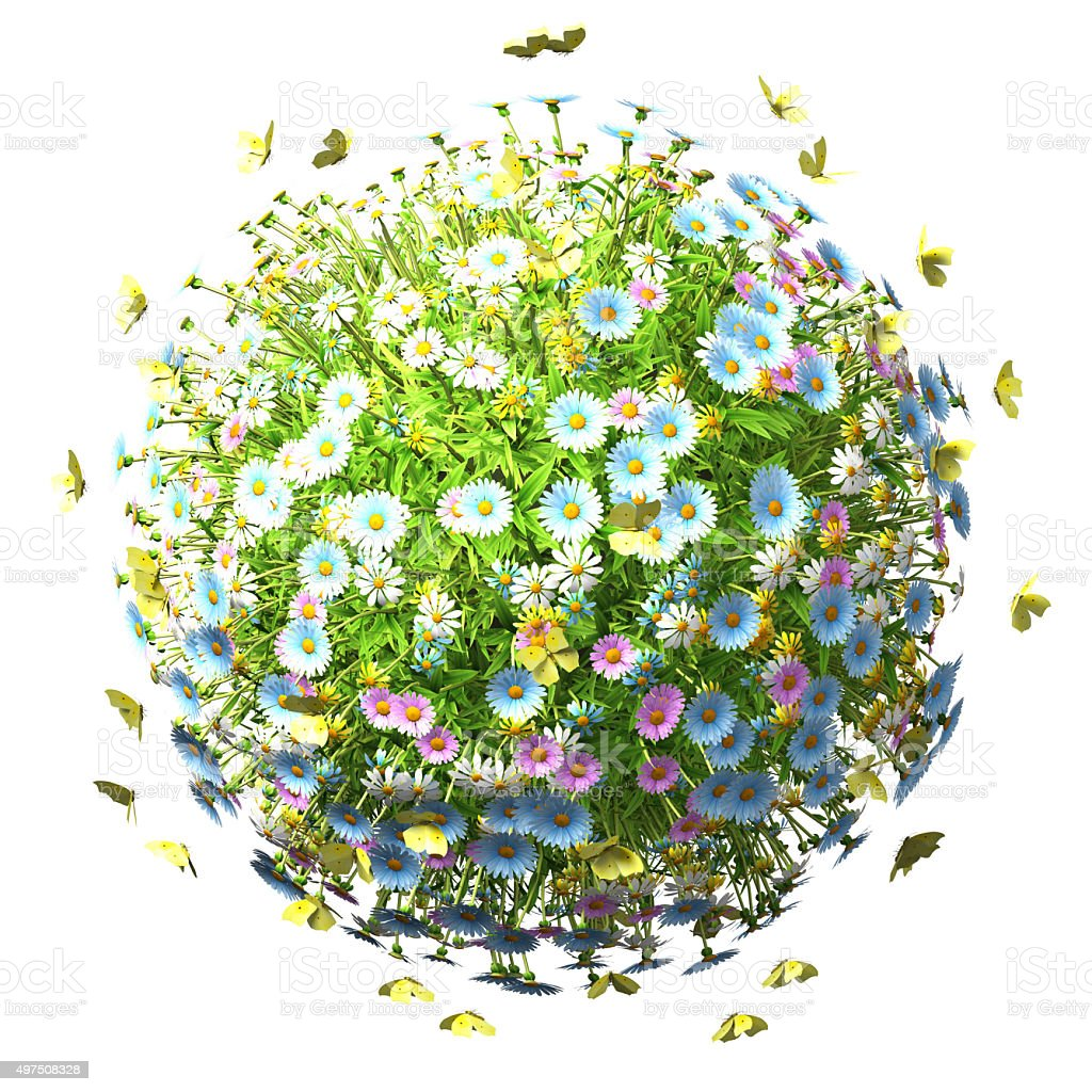 World Of Flowers stock photo